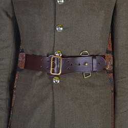 Size 0 Female Brown Waist Belt - Sam Browne - British Army Regiments and Corps
