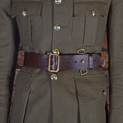 Size 2 Male Brown Waist Belt - Sam Browne - British Army Regiments and Corps