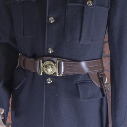 Size 5 Officers - Brown Leather Sword Belt - Royal Marines