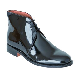 George Boots - Size 8 - Black Patent Leather