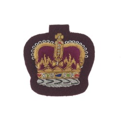 Warrant Officer Class 2 (WO2) and NCO - PARAs and RAVC Large Crown Rank Badge - British Army