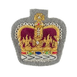 Quartermaster Sergeants, Colour Sergeants and Staff Sergeants - The Gibraltar Regiment and Corps of Drums - The Queens Division - NCO - Rank Insignia -  British Army Badge