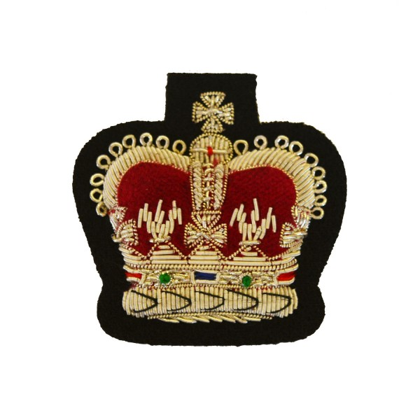 Royal Irish Regiment Large Crown Rank Badge - Warrant Officer Class 2 (WO2)  - British Army